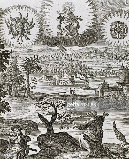 Ezekiel Hebrew prophet Vision of Ezekiel Engraving