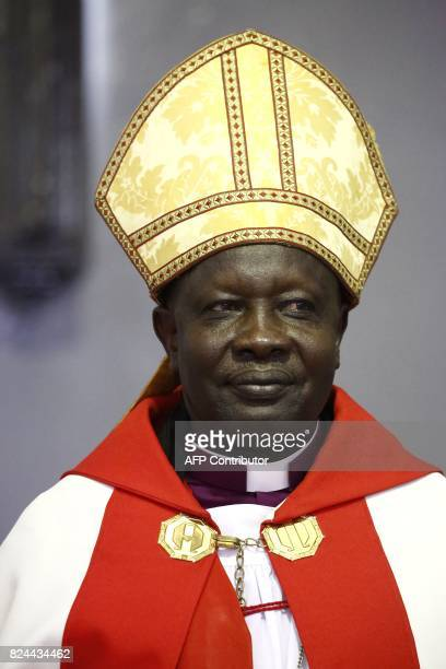 Ezekiel Kondo Kumir Kuku Sudan's newly appointed first archbishop attends a ceremony in Khartoum's All Saints Cathedral on July 30 2017 Archbishop of...