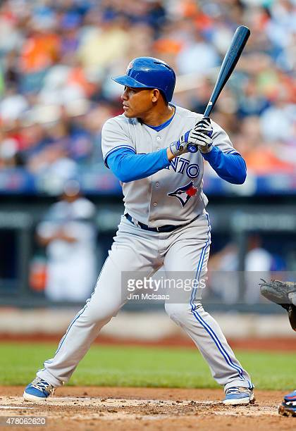 Ezequiel Carrera of the Toronto Blue Jays in action against the New York Mets at Citi Field on June 16 2015 in the Flushing neighborhood of the...