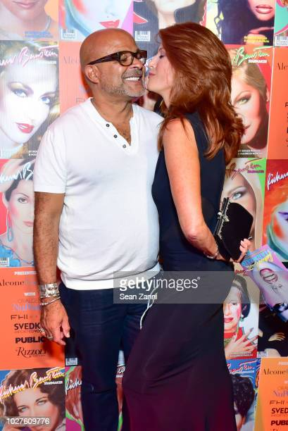 Ezequiel de la Rosa and Angie Everhart attend STARMAKER Book Launch By Roger And Mauricio Padilha at Public Hotel on September 5 2018 in New York City