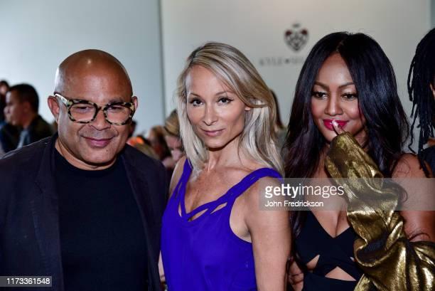 Ezequiel de la Rosa Indira Cesarine and Nichole Galicia attend the Kyle X Shahida Fashion Show at Pier 59 Studios on September 08 2019 in New York...
