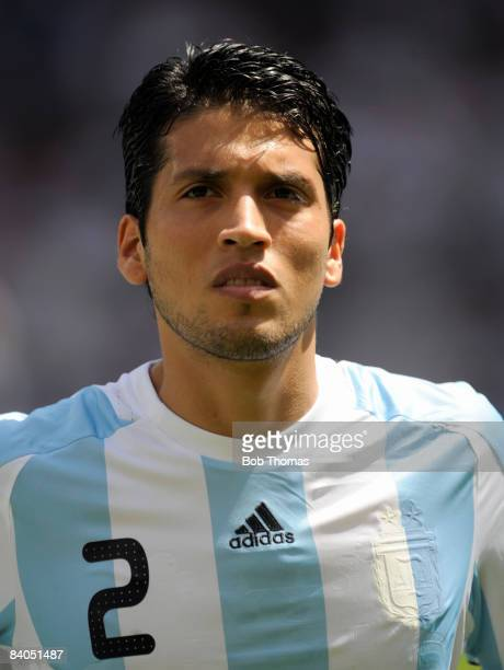 Ezequiel Garay of Argentina during the Men's Gold Medal football match between Nigeria and Argentina at the National Stadium on Day 15 of the Beijing...