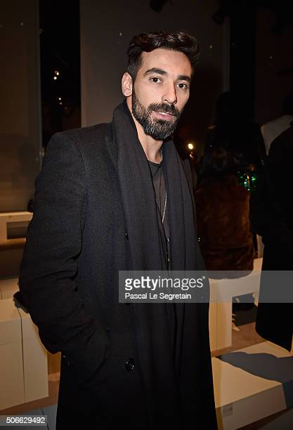 Ezequiel Lavezzi attends the Versace Spring Summer 2016 show as part of Paris Fashion Week on January 24 2016 in Paris France