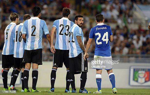 Ezequiel Lavezzi of Argentina during the international friendly match between Italy v Argentina at Stadio Olimpico on August 14 2013 in Rome Italy