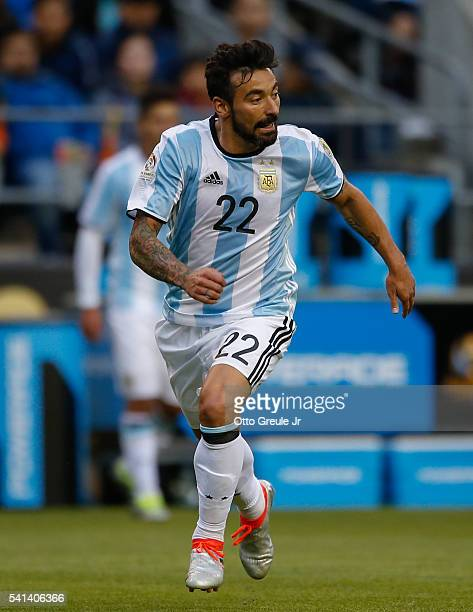 Ezequiel Lavezzi of Argentina follows the play against Bolivia during the 2016 Copa America Centenario Group D match at CenturyLink Field on June 14...