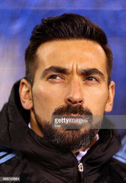 Ezequiel Lavezzi of Argentina looks before the game against Equador during a friendly match at MetLife Stadium on March 31 2015 in East Rutherford...