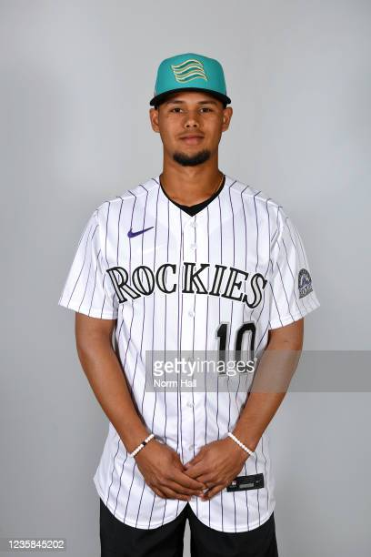 Ezequiel Tovar of the Salt Rive Rafters poses for a headshot during the 2021 Arizona Fall League Headshots at Salt River Fields at Talking Stick on...