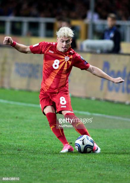 Ezgjan Alioski during the match to qualify for the Football World Cup 2018 between Italia v Macedonia in Turin on October 24 2017