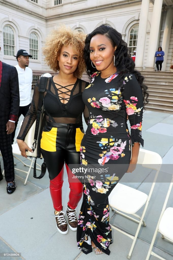 Ezinma (L) and Angela Simmons attend the 3rd Annual Influence Awards at City Hall on June 11, 2018 in New York City.
