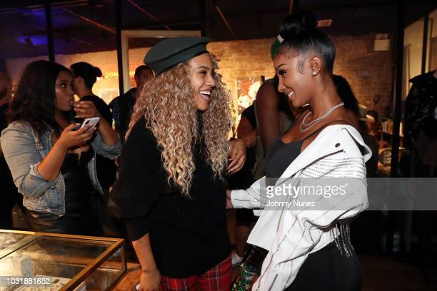 Ezinma and Bernice Burgos attend the Swizz Beats VIP Reception and Celebratory Party on September 11 2018 in New York City