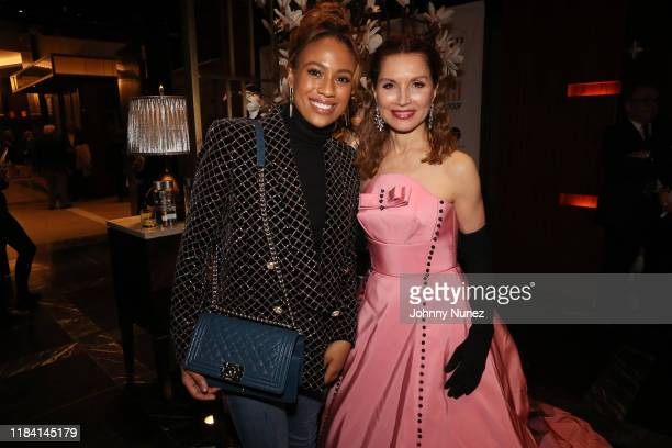 Ezinma and Jean Shafiroff attend Paganini Honors Paganini at Ascent Lounge on October 28 2019 in New York City