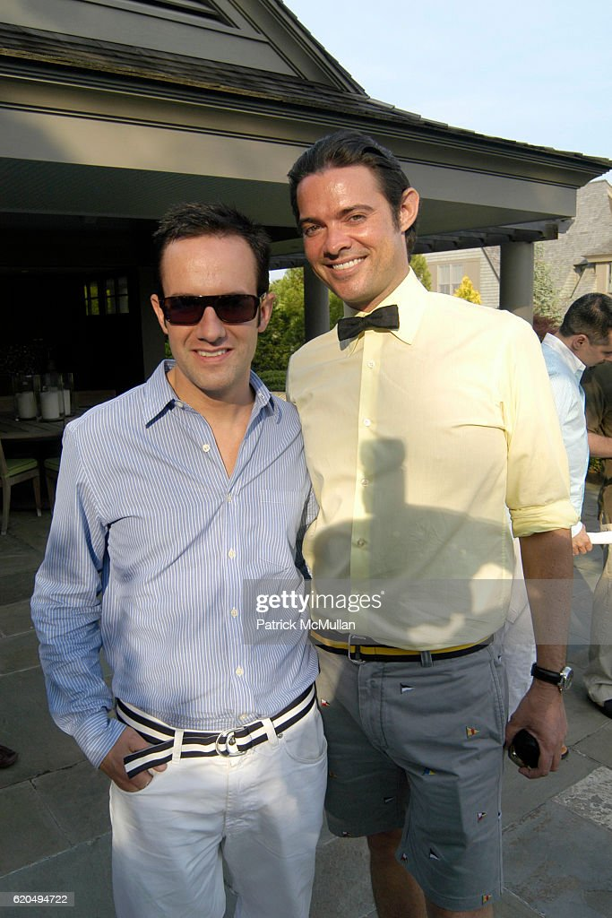 Ezra Alvarez and Brendan Monaghan attend School's Out 2008, benefiting The Hetrick-Martin Institute, home of the Harvey Milk High School at East Hampton on June 9, 2008 in East Hampton, New York.