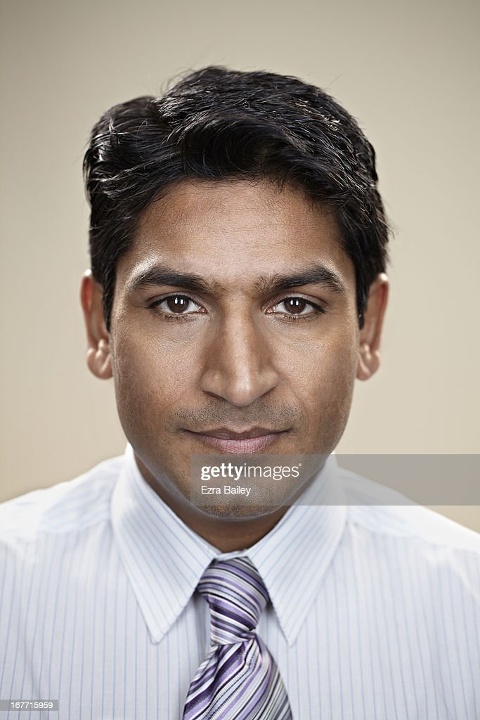 Portrait of a businessman looking into camera. : Stock Photo