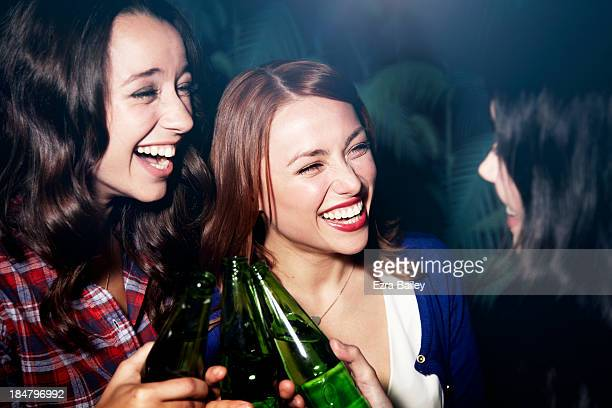 Girlfriends celebrating at a party