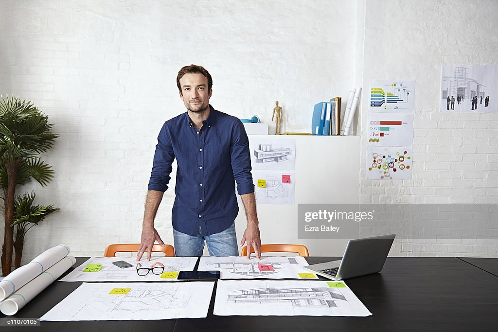 Portrait of a young creative business man, : Stock Photo