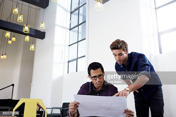 Young creatives working in a modern office.