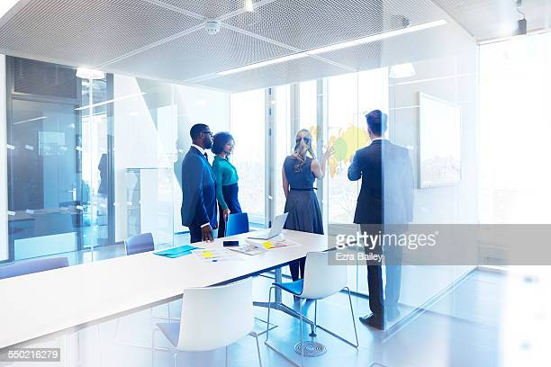 business people in planning meeting - business strategy stock pictures, royalty-free photos & images