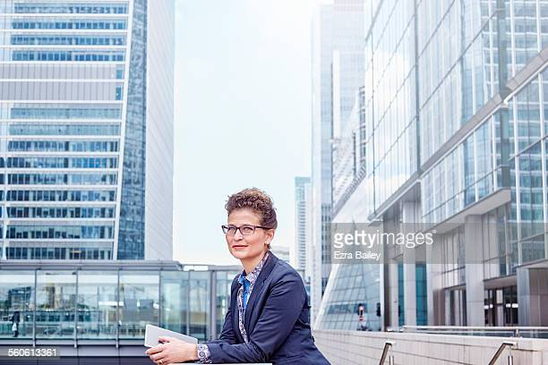 Experienced executive looking confident in city