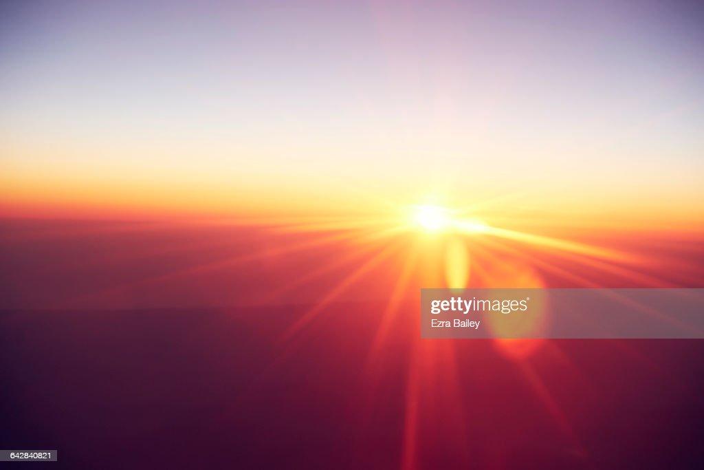 Abstract sunrise : Stock Photo