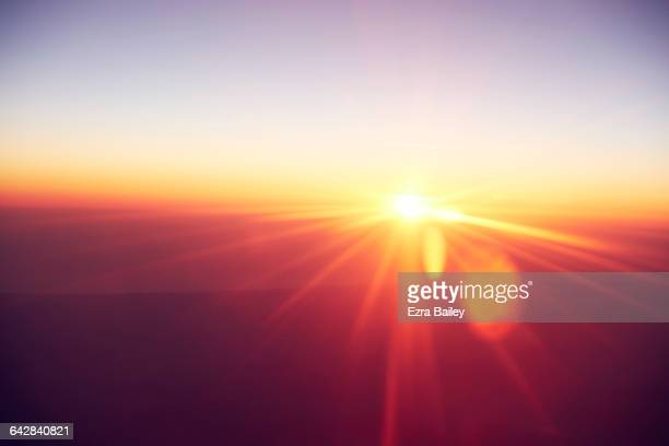 abstract sunrise - zonlicht stockfoto's en -beelden