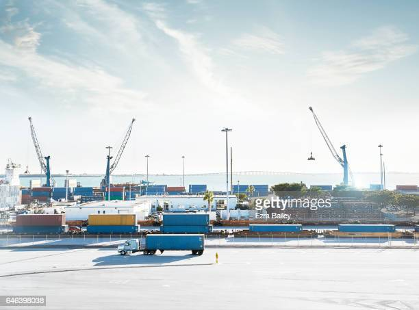Busy Industrial container port