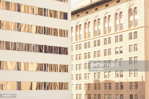 Graphic composition of urban buildings.