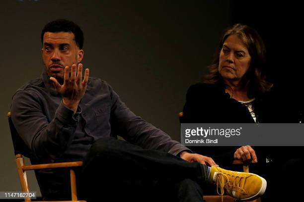 Ezra Edelman and Marina Zenovich attend the Tribeca Talks 10 Years Of 30 For 30 at SVA Theater on May 05 2019 in New York City