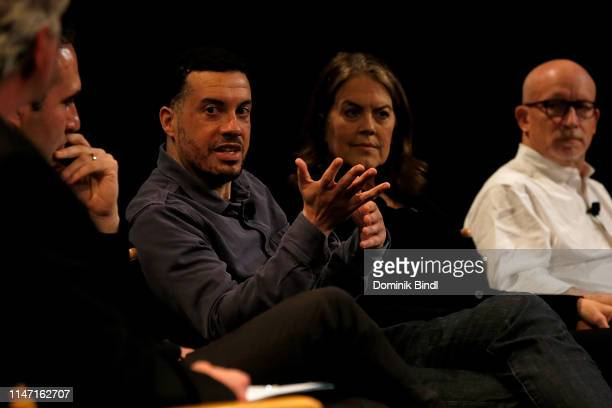 Ezra Edelman Marina Zenovich and Alex Gibney attend the Tribeca Talks 10 Years Of 30 For 30 at SVA Theater on May 05 2019 in New York City