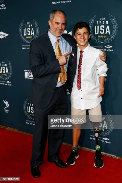 Ezra Frech attends the 2017 Team USA Awards on November 29 2017 in Westwood California
