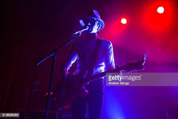 Ezra Furman performs as Delmore Huggs at The O2 Ritz Manchester on October 27, 2016 in Manchester, England.