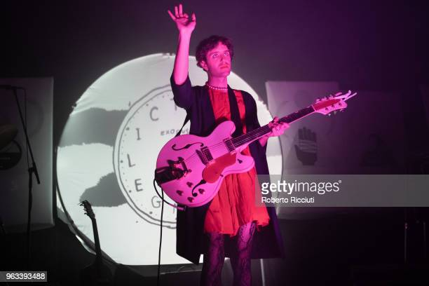 Ezra Furman performs on stage at O2 ABC on May 28, 2018 in Glasgow, Scotland.