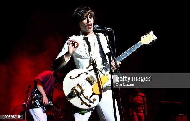 Ezra Furman performs on stage at the O2 Academy, Brixton on September 4, 2018 in London, England.