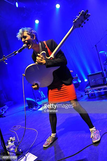 Ezra Furman performs on stage at the O2 Shepherd's Bush Empire on October 22, 2015 in London, England. D.