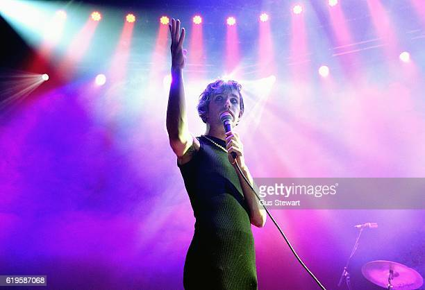 Ezra Furman performs on stage at The Roundhouse on October 31, 2016 in London, England.