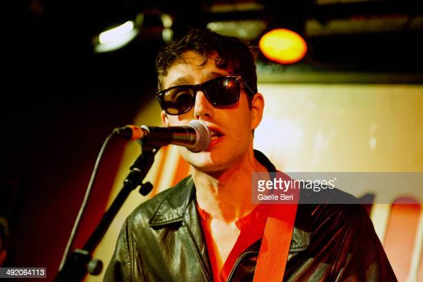 Ezra Furman performs on stage with the Boyfriends at The 100 Club on May 18, 2014 in London, United Kingdom.