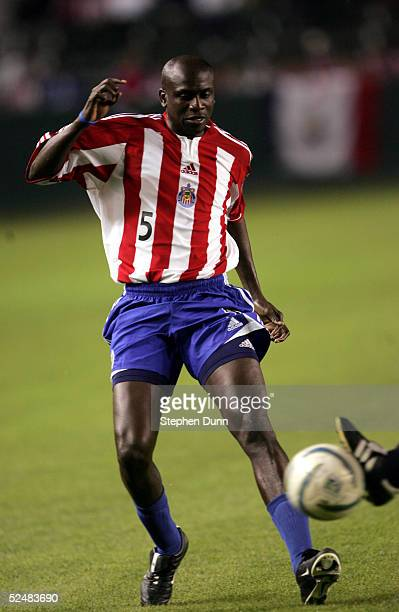Ezra Hendrickson of Chivas USA plays a ball against Osasuna in their friendly match on March 26, 2005 at the Home Depot Center in Carson, California....
