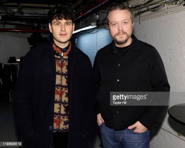Ezra Koenig and Jason Isbell attend the 6th Annual Ally Coalition Talent Show at Town Hall on December 12 2019 in New York City