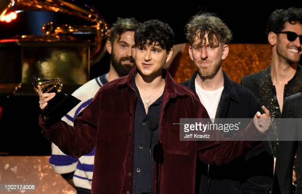 Ezra Koenig and Vampire Weekend accept Best Alternative Music Album for 'Father of the Bride' onstage during the 62nd Annual GRAMMY Awards Premiere...