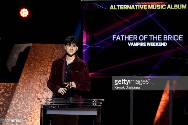 Ezra Koenig of Vampire Weekend accepts Alternative Music Album for 'Father of the Bride' onstage during the 62nd Annual GRAMMY Awards Premiere...