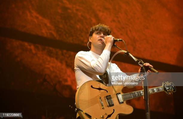 Ezra Koenig of Vampire Weekend on stage at Not So Silent Night a RADIOCOM Event at Barclays Center on December 05 2019 in New York City