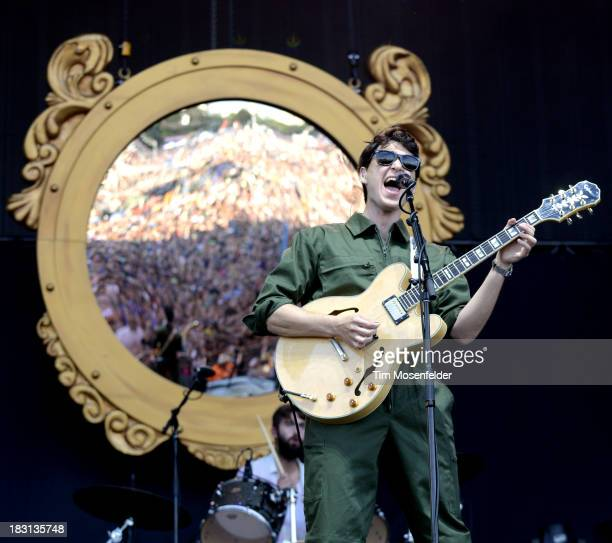 Ezra Koenig of Vampire Weekend performs as part of the Austin City Limits Music Festival Day One at Zilker Park on October 4 2013 in Austin Texas