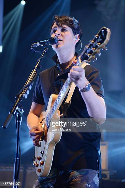 Ezra Koenig of Vampire Weekend performs at Fillmore Miami Beach on May 1 2014 in Miami Beach Florida