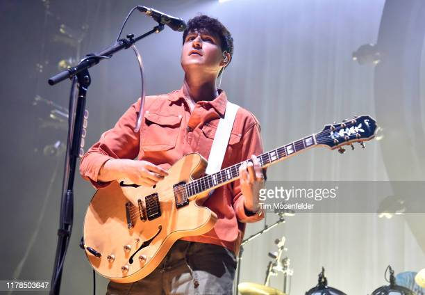Ezra Koenig of Vampire Weekend performs during the band's Father of the Bride tour at Bill Graham Civic Auditorium on October 01 2019 in San...
