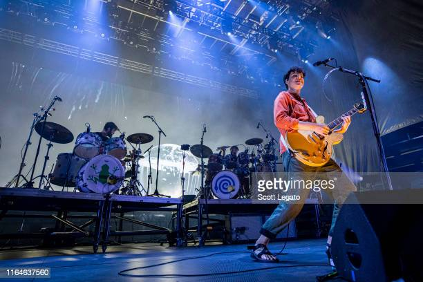 Ezra Koenig of Vampire Weekend performs on Day 1 of MoPop Festival 2019 at West Riverfront Park on July 27 2019 in Detroit Michigan