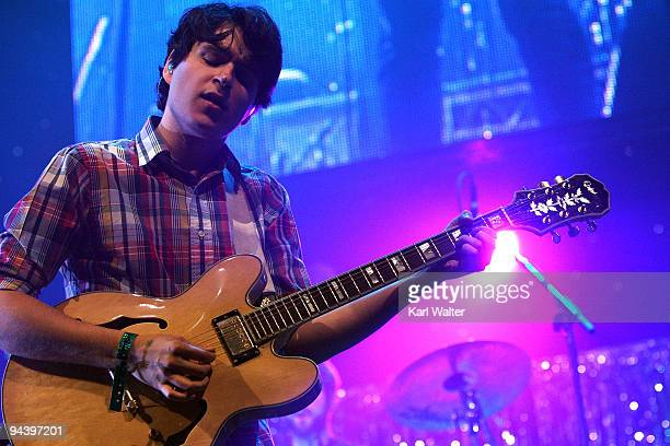 Ezra Koenig of Vampire Weekend performs on night two of 1067 KROQ FM's Almost Acoustic Christmas 2009 at the Gibson Amphitheatre at Universal...