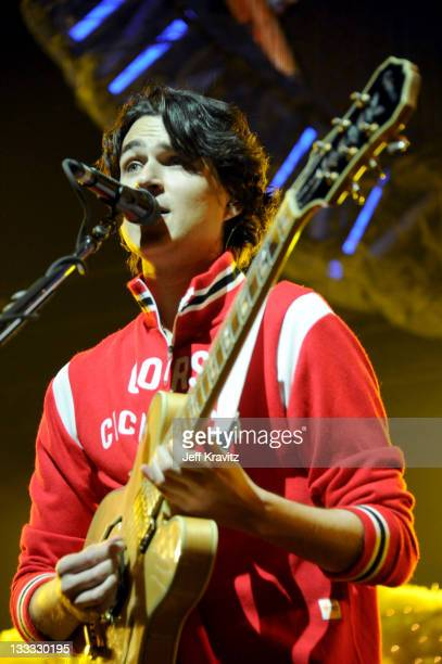 Ezra Koenig of Vampire Weekend performs on night two of KROQ Almost Acoustic Christmas at Gibson Amphitheatre on December 12 2010 in Universal City...