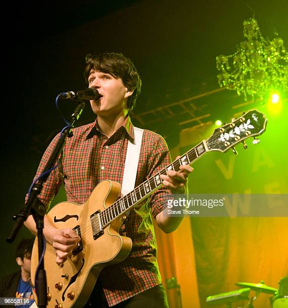 Ezra Koenig of Vampire Weekend performs on stage at O2 Academy on February 10 2010 in Birmingham England