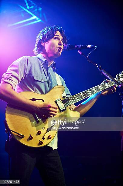 Ezra Koenig of Vampire Weekend performs on stage at O2 Academy on November 29, 2010 in Sheffield, England.