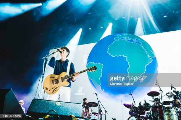Ezra Koenig of Vampire Weekend performs on stage during day 1 of Madcool Festival on July 11 2019 in Madrid Spain