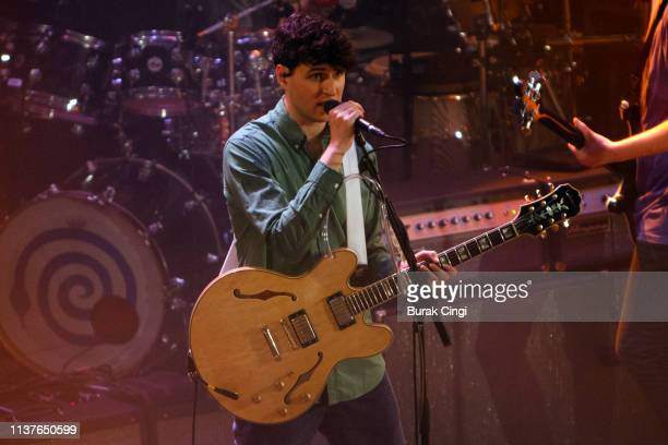 Ezra Koenig of Vampire Weekend performs onstage at Islington Assembly Hall on March 22 2019 in London England